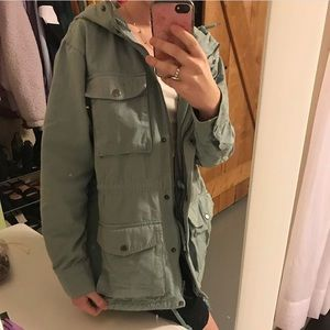 Urban Outfitters teal army jacket